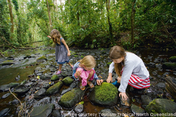 Kids playing in atherton tablelands
