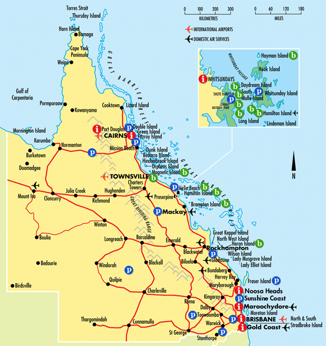 Queensland Tourist Map Cairns Australia