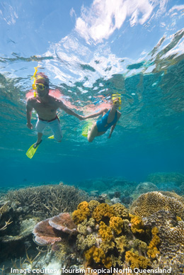 couple snorkelling at Great Barrier Reef